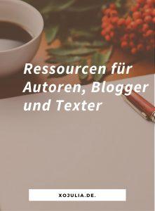 Ressourcen für Autoren, Blogger und Texter