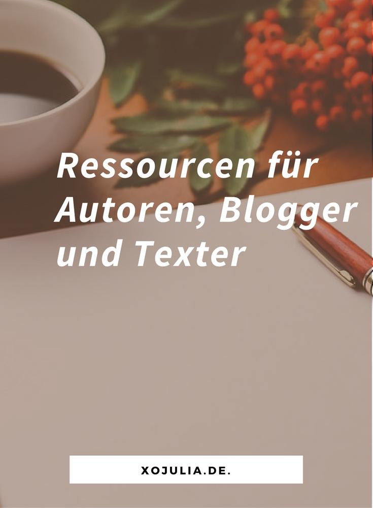 Ressourcen für Autoren Blogger und Texter