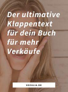 Der ultimative Klappentext: So verkaufst du mit Klappentext & Buchbeschreibung mehr Bücher