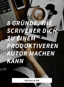 8 Gründe, warum du mit Scrivener produktiver schreiben wirst