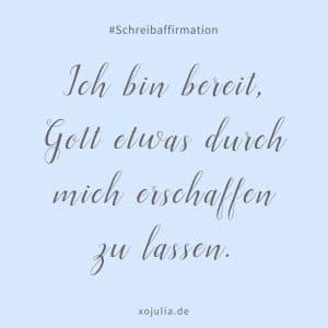 #schreibaffirmation 8