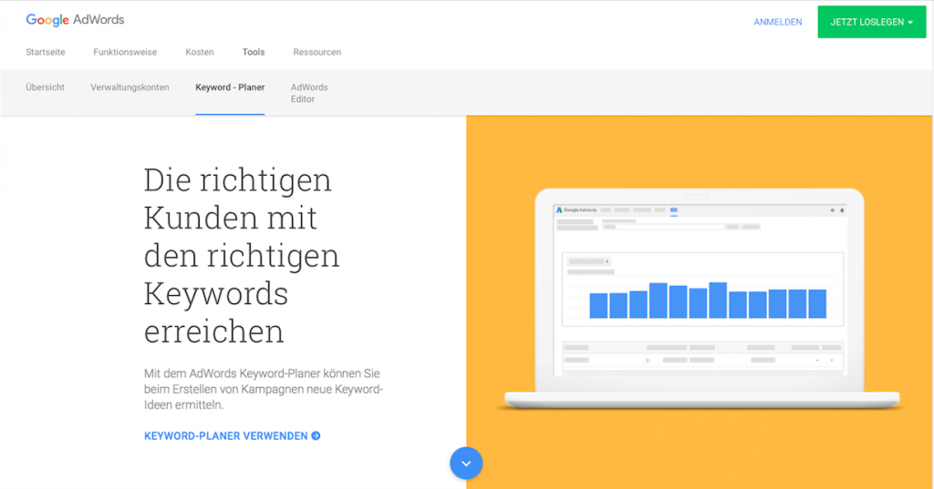 Screenshot Google AdWords