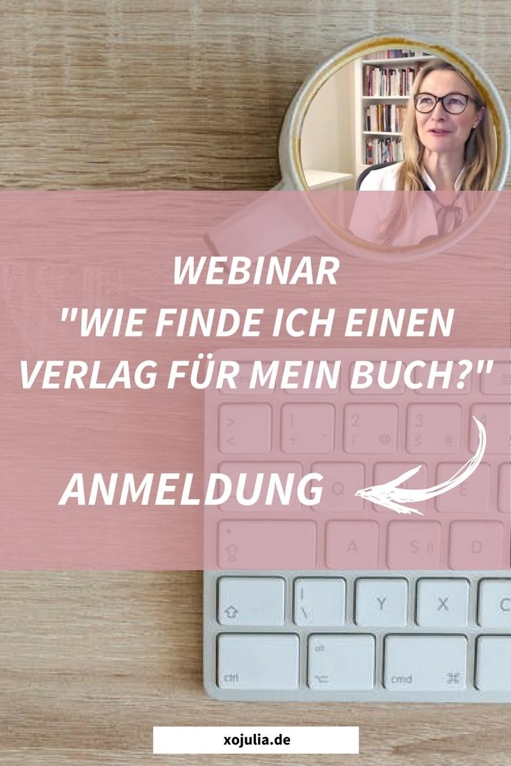 Webinar - Wie finde ich einen Verlag 2018 - Pinterest