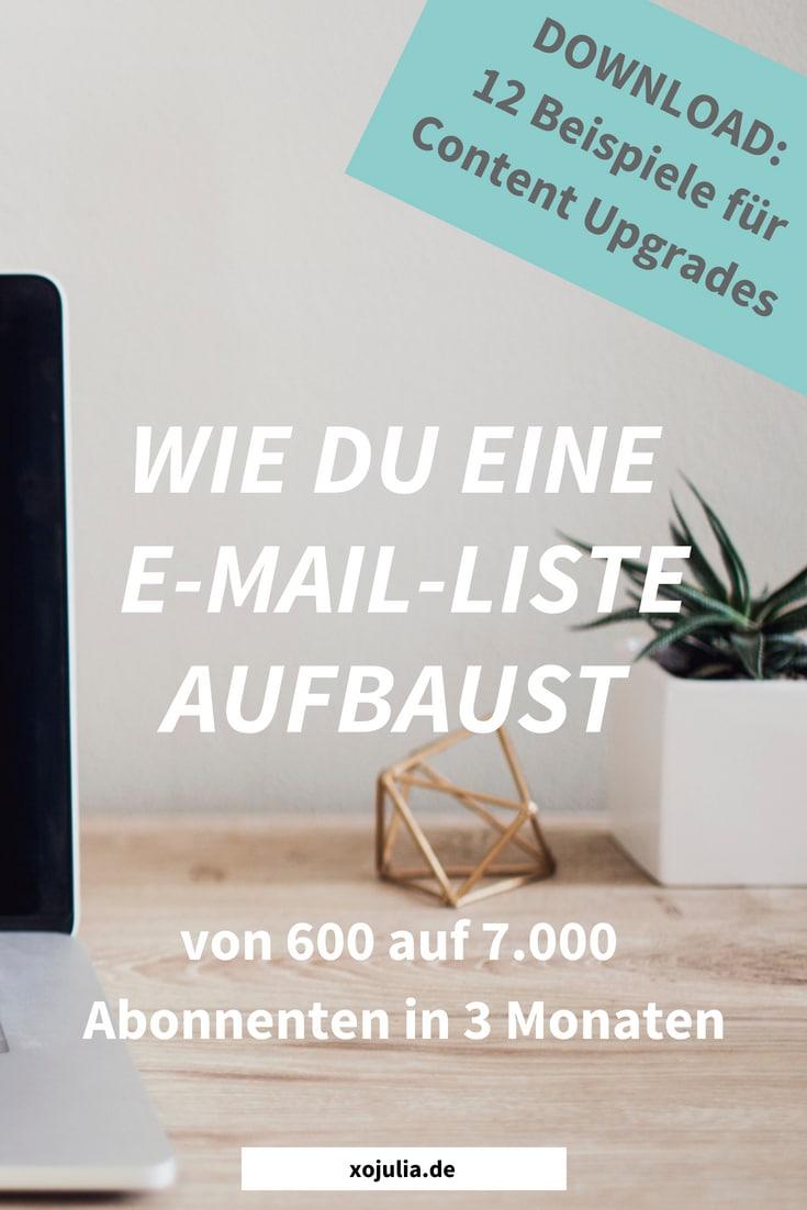 Wie du eine E-Mail-Liste aufbaust (Mailingliste: Von 600 auf 7000 Abonnenten in 3 Monaten)